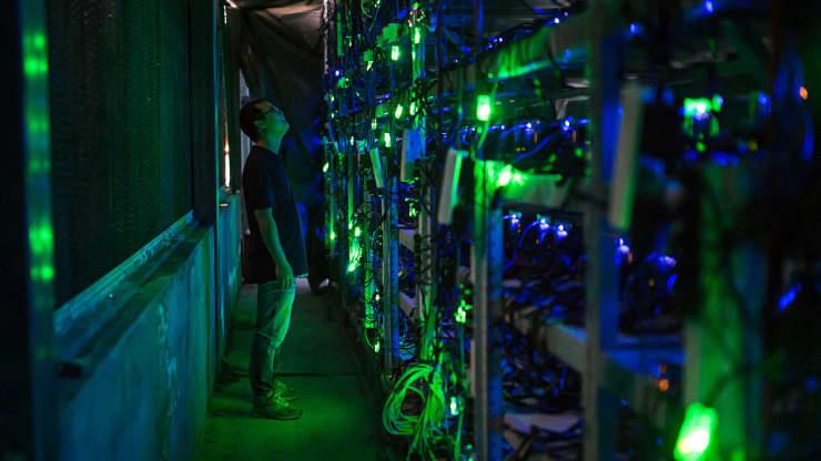 Một mỏ khai thác bitcoin gần Kongyuxiang, Tứ Xuyên, Trung Quốc vào ngày 12 tháng 8 năm 2016.