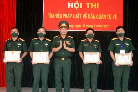 Tuyên Quang: Hội thi tìm hiểu pháp luật về Dân quân tự vệ tìm ra nhân vật ưu tú