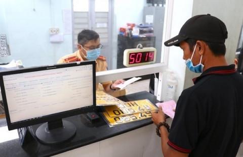 PC08 Công an TP. Hồ Chí Minh thông báo tạm ngừng tiếp nhận đăng ký xe mới