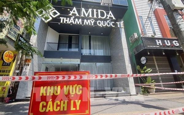 Thẩm mỹ viện quốc tế AMIDA (đường Phan Châu Trinh, quận Hải Châu, thành phố Đà Nẵng), địa điểm có liên quan nhiều ca lây nhiễm cộng đồng được cách ly