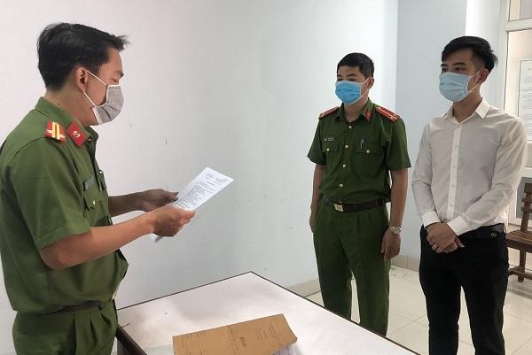 Cơ quan Cảnh sát điều tra CATP Đà Nẵng thực hiện quyết định khởi tố bị can đối với Giám đốc Công ty TNHH quốc tế AMIDA