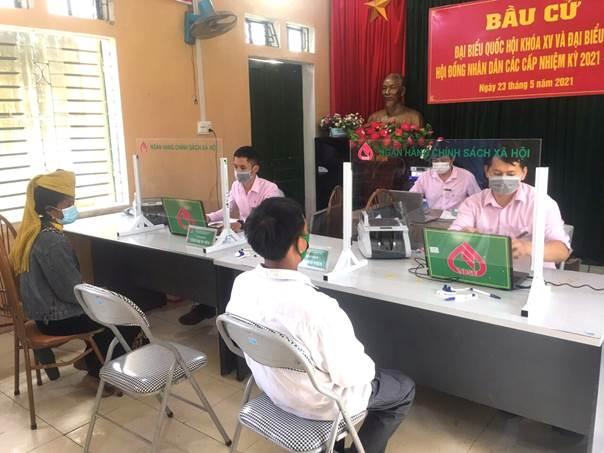 NHCSXH tỉnh Sơn La giao dịch tại Điểm giao dịch xã
