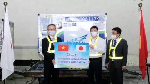 Việt Nam được Nhật Bản viện trợ thêm 1 triệu liều vắc-xin Covid-19