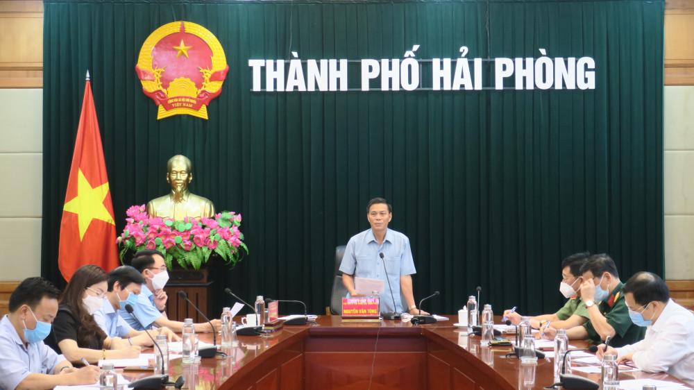 Chủ tịch UBND TP Nguyễn Văn Tùng chủ trì chỉ đạo cuộc họp trực tuyến chống Covid 19