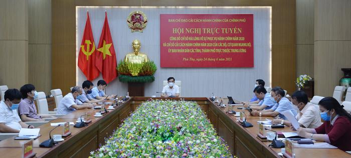 Hội nghị trực tuyến tại điểm cầu Phú Thọ