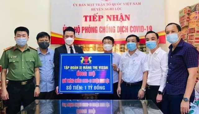 Nghệ An: Nhiều doanh nghiệp ủng hộ huyện Nghi Lộc phòng chống dịch Covid-19