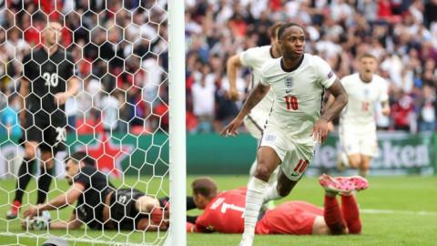 Euro 2020: Đội tuyển Anh thắng Đức 2-0 vào thẳng vòng tứ kết