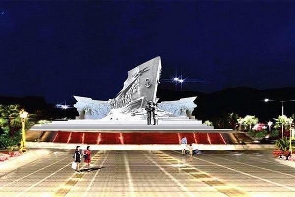 Phối cảnh mặt cắt ngang tượng đài con tàu