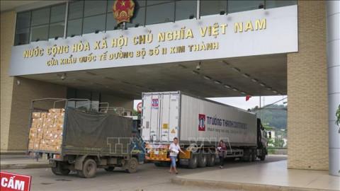 Lào Cai: Giá trị hàng hóa xuất nhập khẩu qua cửa khẩu của tăng gần 42%