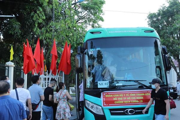 59 cán bộ y tế tỉnh Thanh Hóa lên đường vào TP Hồ Chí Minh chống dịch