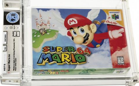 Băng video game Super Mario 64 nguyên niêm phong bán với giá 1,56 triệu USD