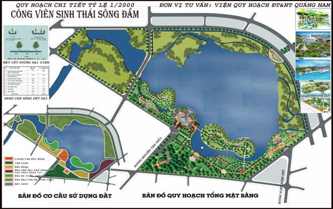 Trong quy hoạch Công viên sinh thái Sông Đầm mới đây, tỉnh Quảng Nam giao UBND thành phố Tam Kỳ và BQL Khu kinh tế mở Chu Lai, Mời gọi doanh nghiệp đầu tư xây dựng Khu dịch vụ, du lịch sinh thái sông Đầm với tổng diện tích 130 ha,