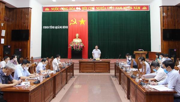 Quảng Bình: Họp ban chỉ đạo thực hiện chính sách hỗ trợ cho người lao động và người sử dụng lao động gặp khó khăn do đại dịch COVID-19