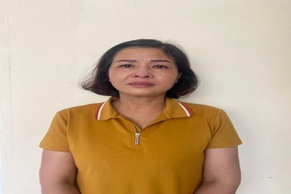 Bà Phạm Thị Hằng, nguyên Giám đốc Sở GD-ĐT tỉnh Thanh Hóa (Ảnh: Bộ Công an)