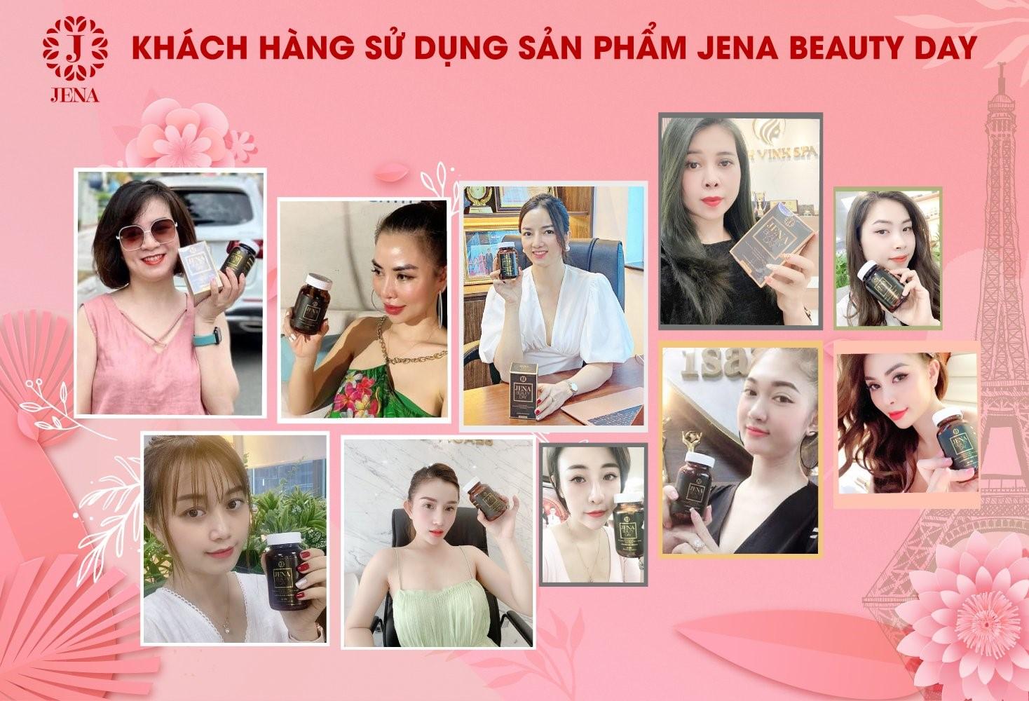 Jena Beauty Day được đông đảo chị em tin dùng mỗi ngày để chăm sóc làn da từ bên trong..