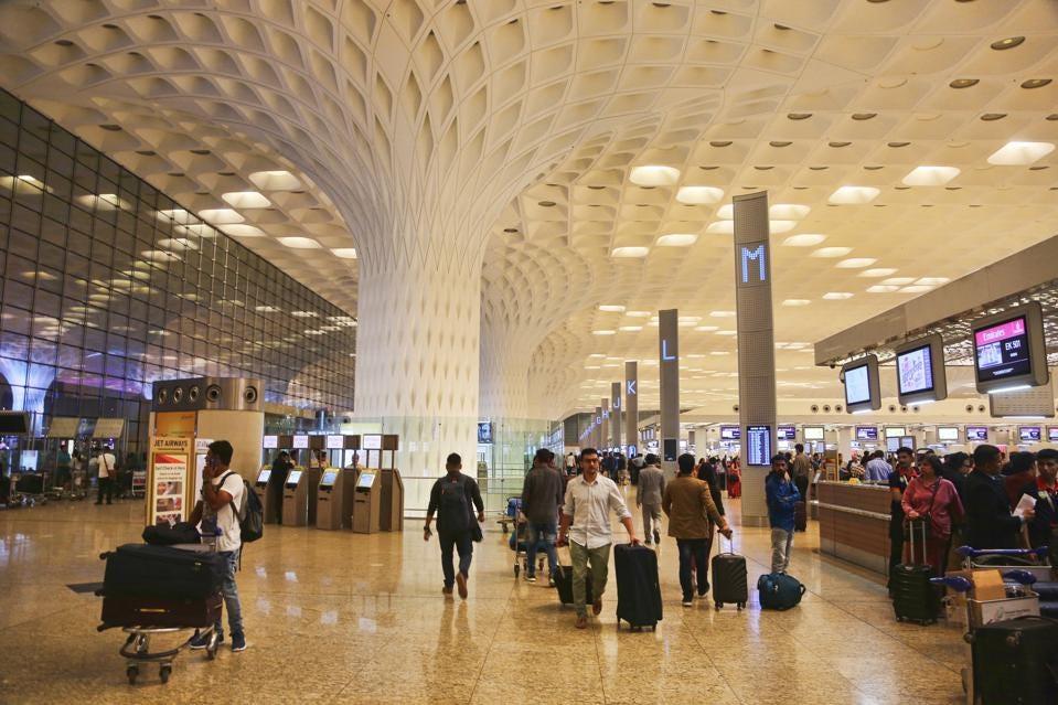 Sân bay Quốc tế Chhatrapati Shivaji Maharaj (trước đây gọi là Sân bay Quốc tế Sahar) ở Mumbai, Maharashtra, Ấn Độ (Nguồn: GETTY IMAGES).