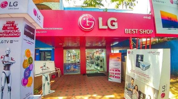 Một cửa hàng Best Shop của LG tại Ấn Độ