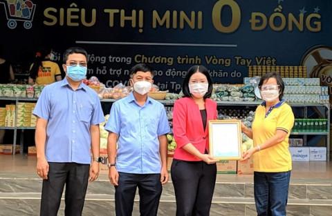 Siêu thị mini 0 đồng được khai trương tại Trung tâm Thể dục thể thao quận Phú Nhuận