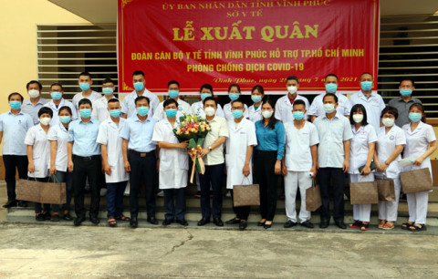 Vĩnh Phúc: Tiếp tục huy động 20 cán bộ Y tế chi viện cho thành phố Hồ Chí Minh
