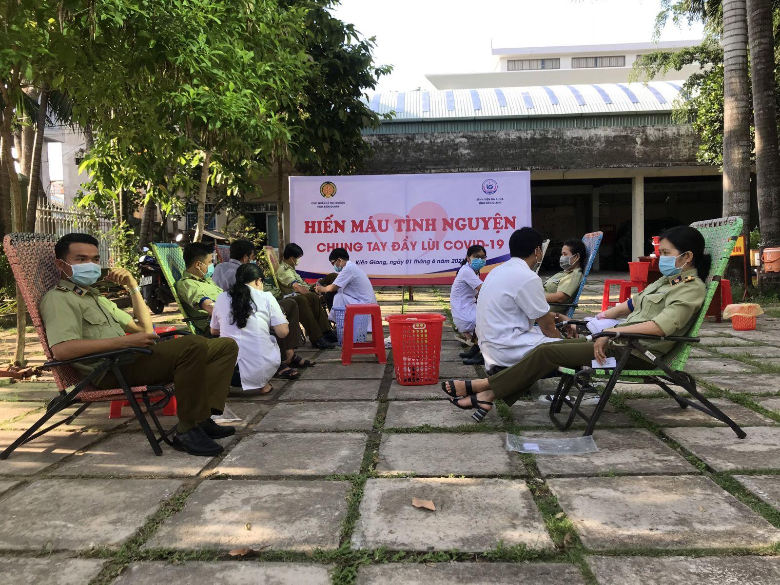 Ngày hội hiến máu tình nguyện của công chức, người lao động Cục QLTT Kiên Giang