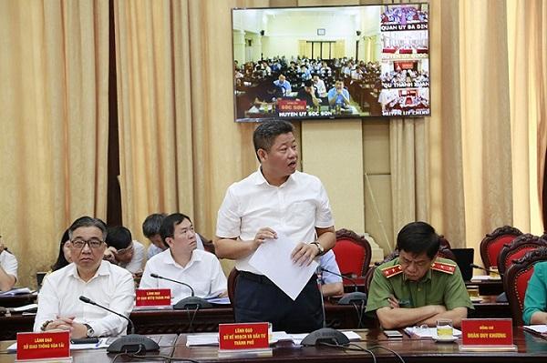 Ông Nguyễn Mạnh Quyền khi đang là Giám đốc Sở Kế hoạch và Đầu tư Hà Nội