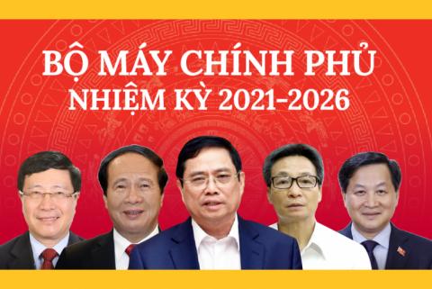 27 thành viên Chính phủ nhiệm kỳ 2021 - 2026