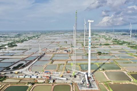 """Tập đoàn Kosy đẩy nhanh tiến độ thi công nhà máy Điện gió Kosy Bạc Liêu trước """"giờ G"""""""