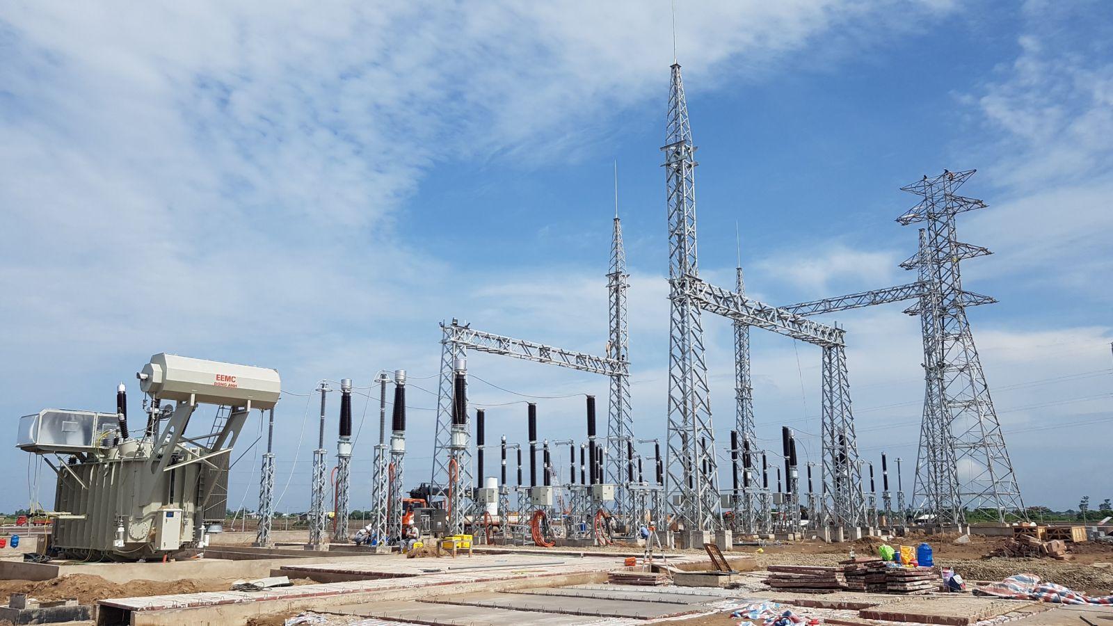 Trạm biến áp của dự án đã được hoàn thiện