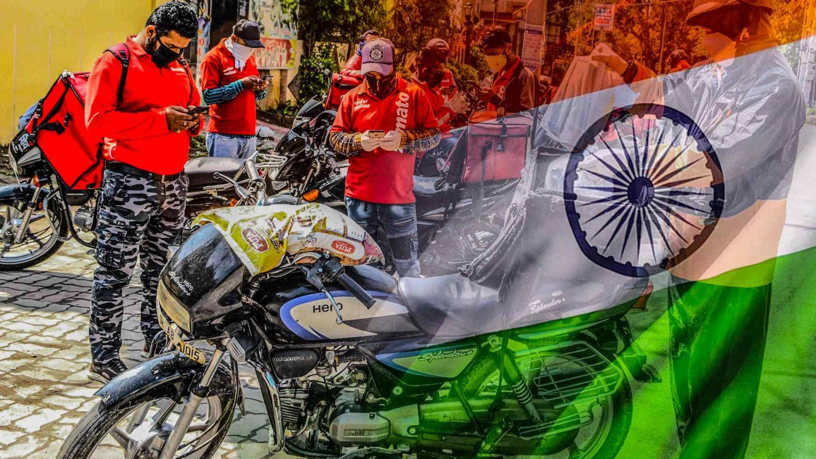 Các kỳ lân công nghệ của Ấn Độ, chẳng hạn như công ty giao đồ ăn trực tuyến Zomato, đang mang lại bước ngoặt trong bối cảnh IPO ở Ấn Độ. (Nguồn ảnh AFP / Jiji)
