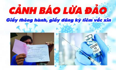 TP.HCM: Cảnh giác lừa đảo bán giấy thông hành, giấy đăng ký tiêm vắc xin