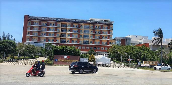 Bệnh viện Đa khoa Trung ương Quảng Nam, là nơi điều trị bệnh nhân Covid-19 nặng của tỉnh.