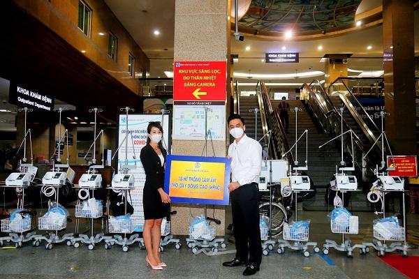 Quỹ từ thiện Kim Onh trao tặng 10 máy thở tặng bệnh viện Đại học Y Dược TP. Hồ Chí Minh ngày 19/7/2021