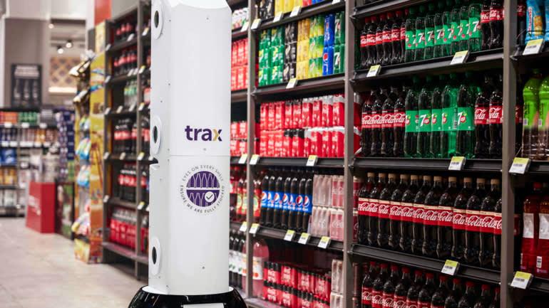 Trax có công nghệ nhận dạng hình ảnh có thể hình dung toàn bộ kệ trưng bày của cửa hàng bán lẻ, cho phép theo dõi tình trạng thiếu sản phẩm và mức tồn kho. (Ảnh: Trax)