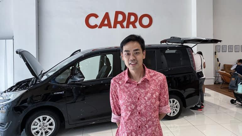 Carro, người sáng lập và CEO là Aaron Tan, đã nhận được khoản đầu tư từ SoftBank Vision Fund 2 vào tháng 6. (Ảnh của Takashi Nakano)