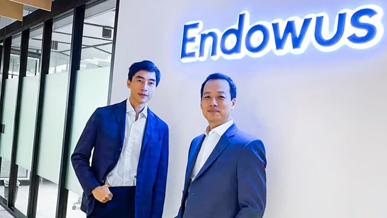 Giám đốc điều hành Endowus Gregory Van (trái) và Chủ tịch Samuel Rhee. (Ảnh: Endowus)