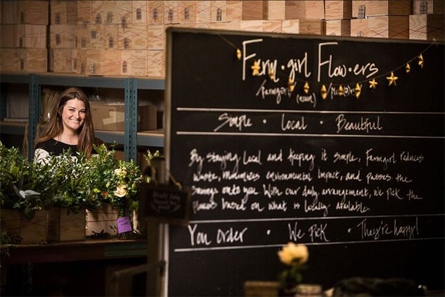Christina Stembel đã bắt đầu khởi nghiệp với một cửa hàng hoa Farmgirl Flowers tại thành phố San Francisco, bang California, Mỹ