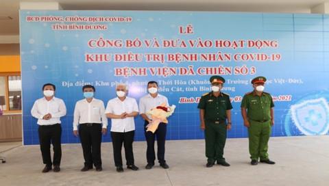 Tổng công ty Becamex IDC: Khu điều trị bệnh nhân Covid-19 Thới Hòa quy mô 5300 giường chính thức đi vào hoạt động