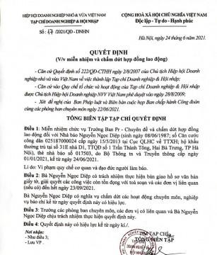 Thông tin liên quan đến nguyên nhà báo Nguyễn Ngọc Diệp bị khởi tố