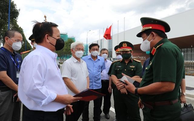Đoàn công tác của Bộ Quốc phòng kiểm tra công tác điều trị bệnh nhân Covid-19 tại các Bệnh viện dã chiến