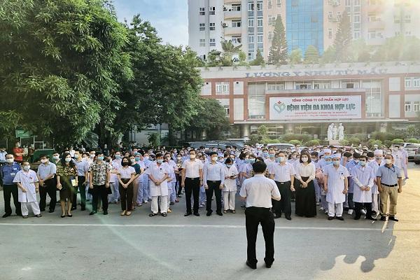 Tới dự buổi xuất quân có đại diện lãnh đạo Đảng ủy khối các Cơ quan và doanh nghiệp tỉnh Thanh Hóa