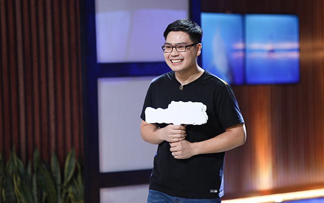 Phạm Chí Nhu, người sáng lập và CEO Coolmate, trên sân khấu Shark Tank Việt Nam. Nguồn ảnh: Shark Tank