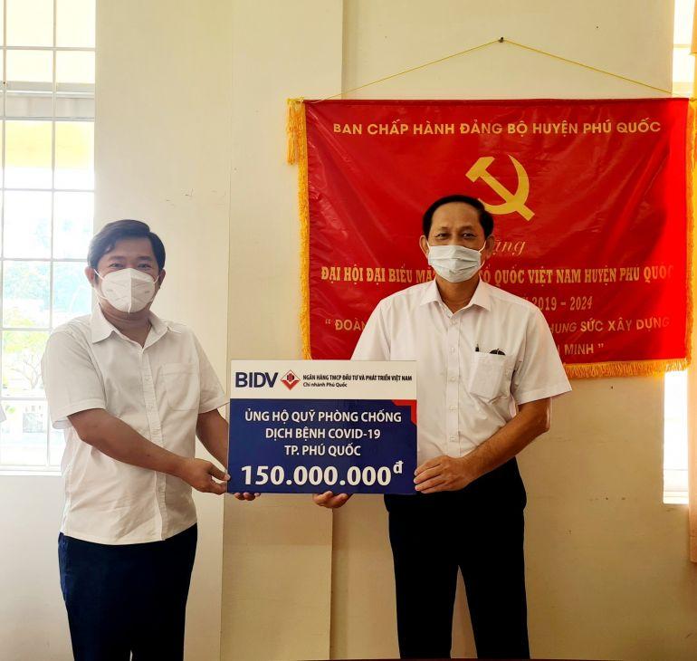 """BIDV Phú Quốc chung tay bảo vệ """"vùng xanh"""" trong công tác phòng, chống dịch COVID-19"""