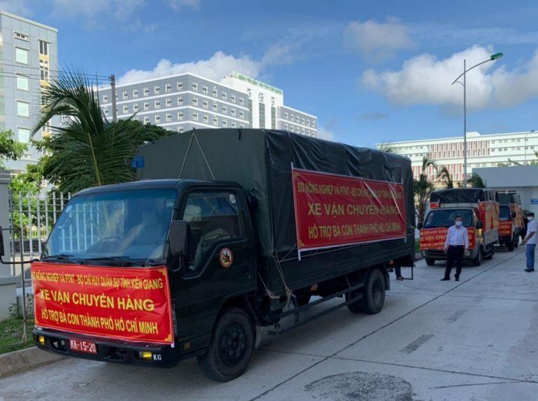 Kiên Giang: Hỗ trợ 5 tấn lương thực, thực phẩm cho người dân TP.HCM