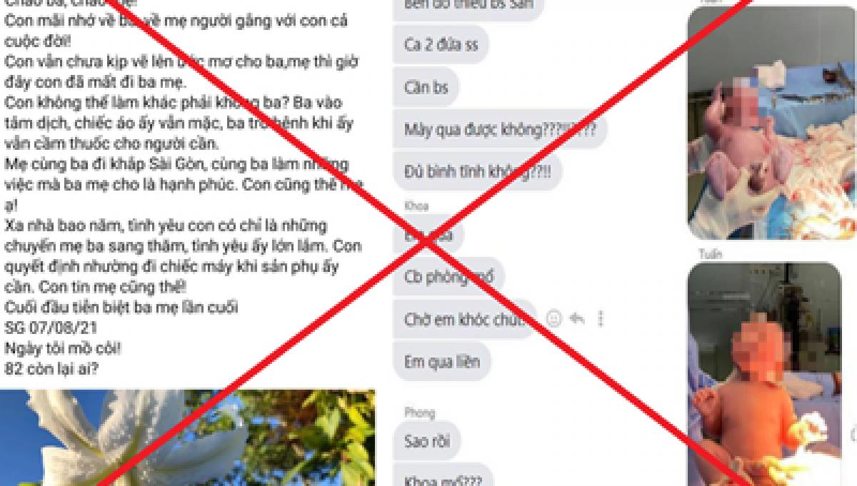 """Sở TT-TT TP.HCM, xử phạt hai tài khoản facebook vì chia sẻ tin bác sĩ """"nhường máy thở của người thân để cứu sản phụ song thai"""""""