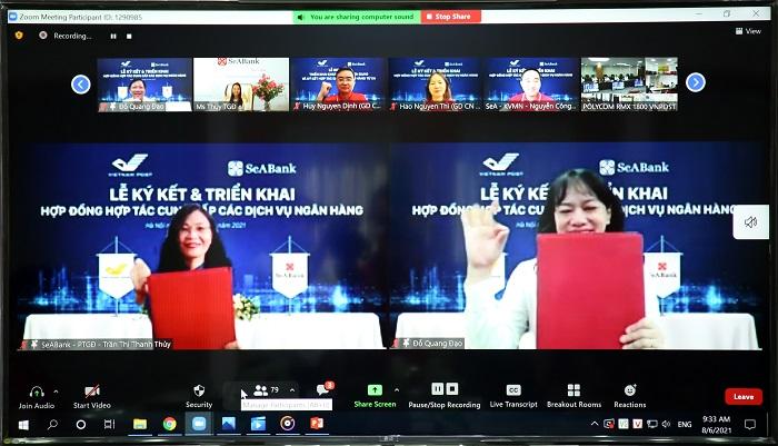 SeABank và Bưu điện Việt Nam ký kết hợp tác triển khai dịch vụ ngân hàng từ xa