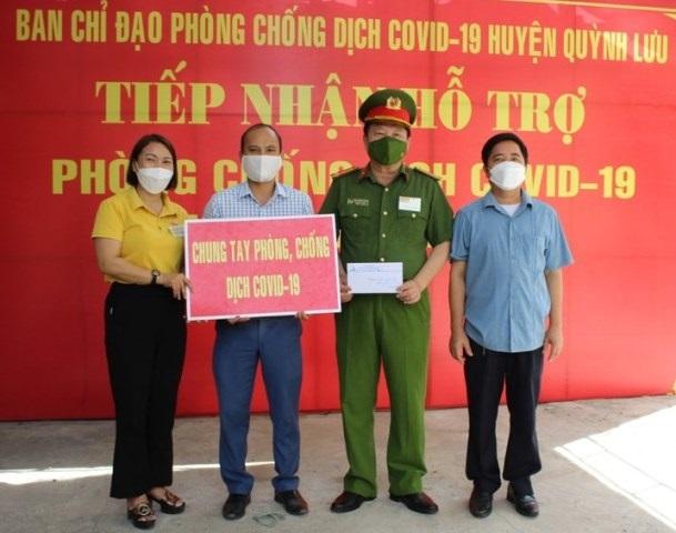 Nghệ An: Doanh nghiệp ủng hộ huyện Quỳnh Lưu phòng, chống dịch Covid - 19