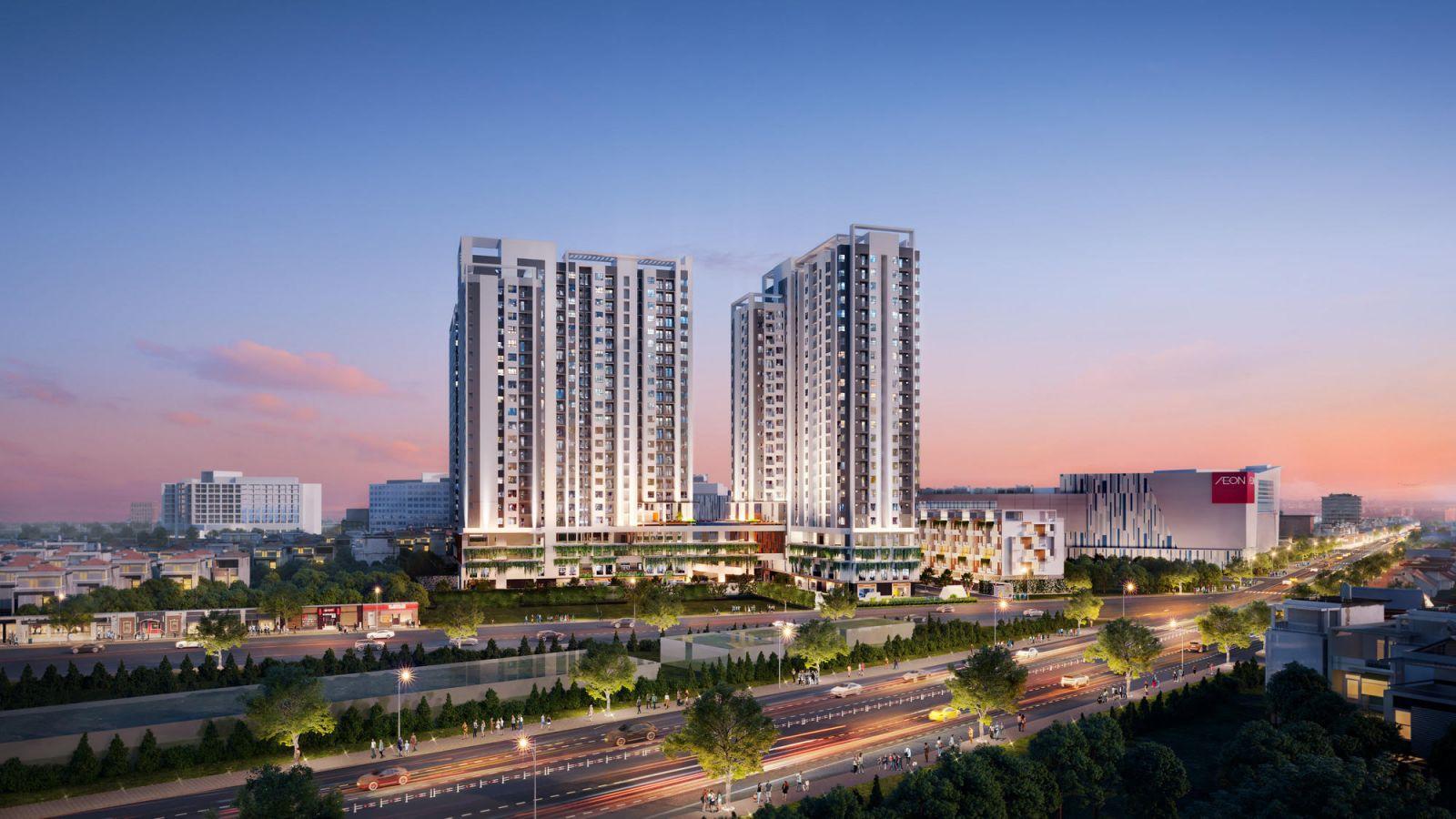 Phối cảnh dự án Moonlight Centre Point – Căn hộ trung tâm khu Tên Lửa vừa được giới thiệu ra thị trường. (Ảnh: Hưng Thịnh Land)
