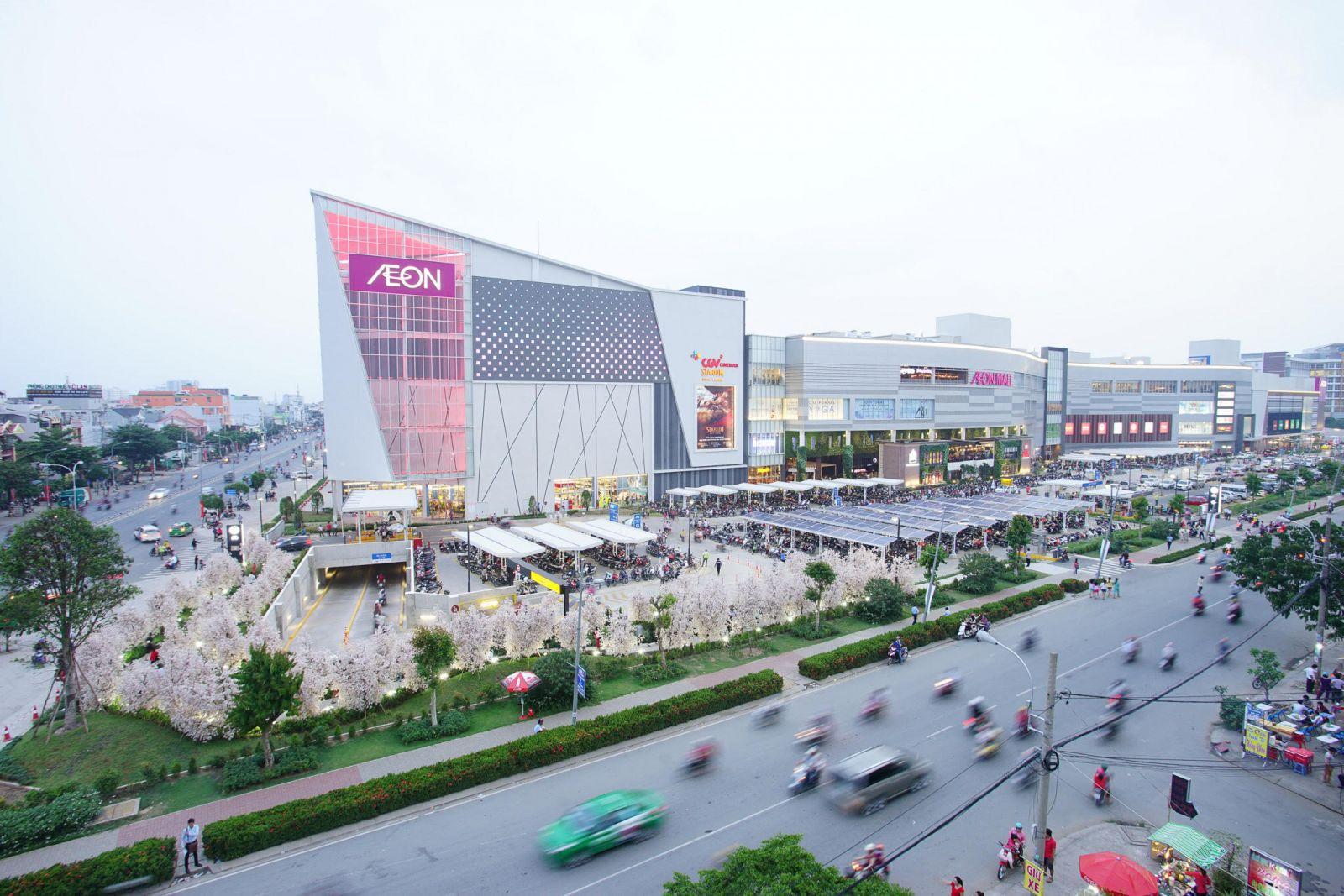 Aeon Mall Bình Tân đẩy giá bất động sản Khu Tên Lửa gia tăng. (Ảnh: Aeon Mall)