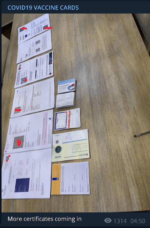 Hàng loạt giấy tờ giả từ các nước trên thế giới