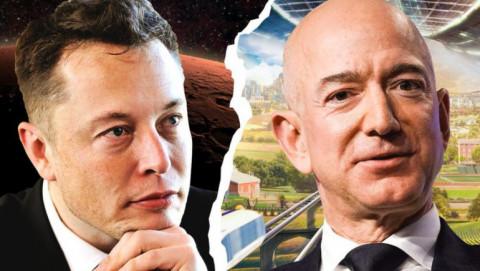 Cuộc đua tới mặt trăng của 2 tỷ phú giàu nhất trong hành tinh Jeff Bezos và Elon Musk